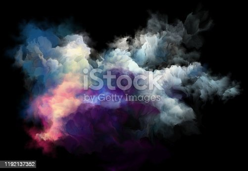 istock colorful smoke on a black background, art background 1192137352