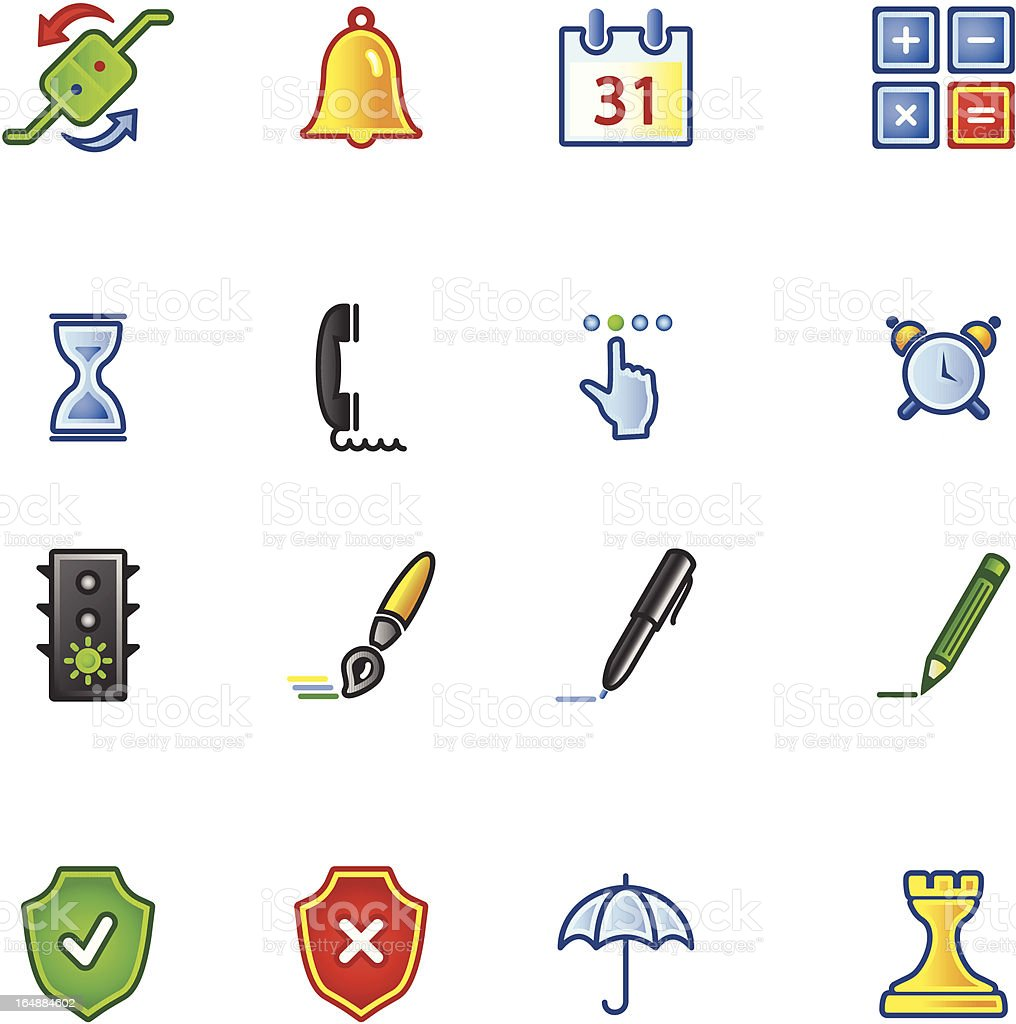 colorful software icons royalty-free colorful software icons stock vector art & more images of alarm clock