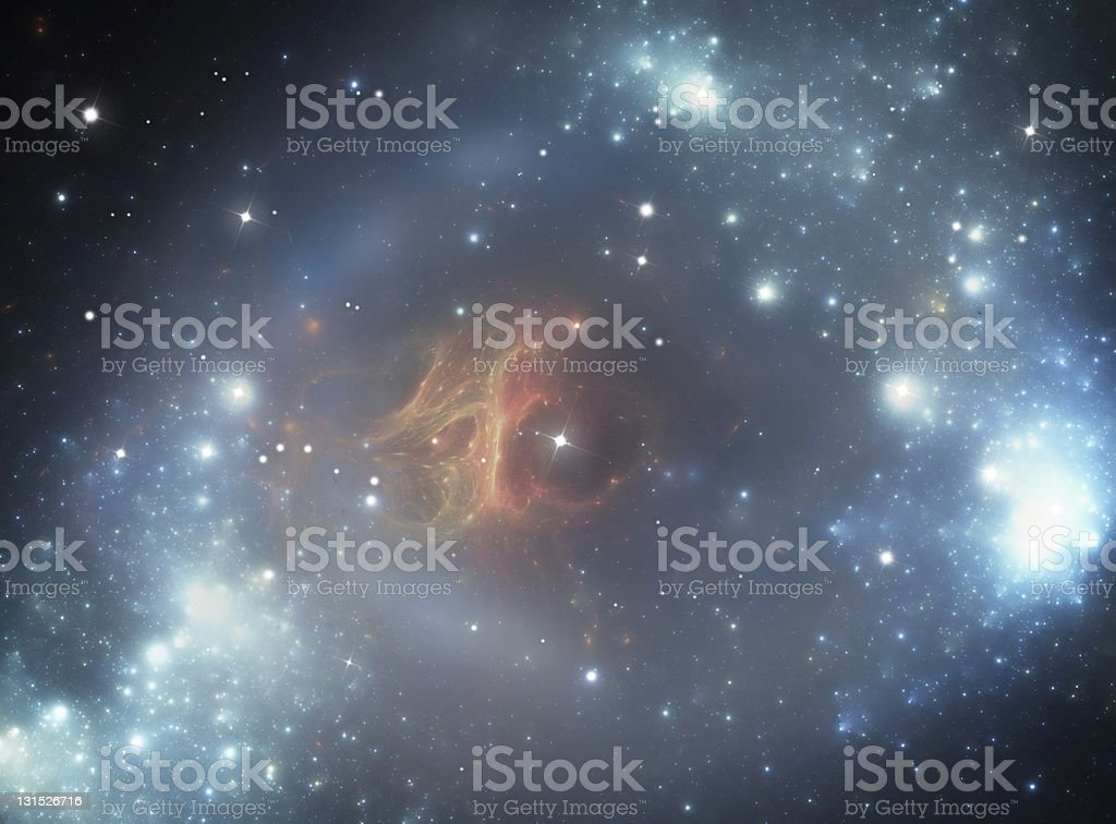 Colorful space star nebula royalty-free stock vector art