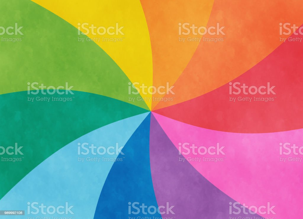 Colorful spiral copy space vector art illustration