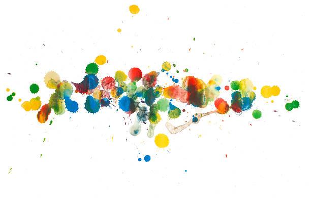 Colorful Splash Paint vector art illustration