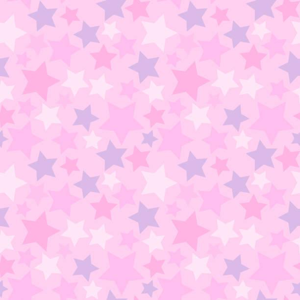 Colorful star seamless pattern vector art illustration