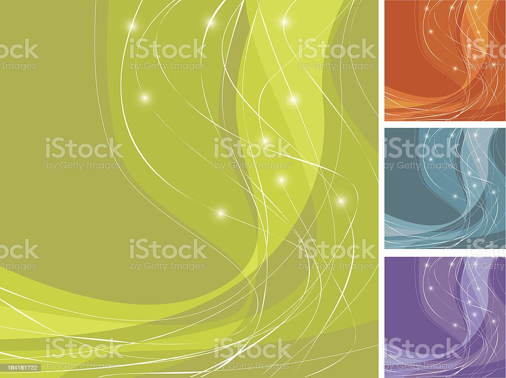Colorful Swoosh Backgrounds royalty-free stock vector art