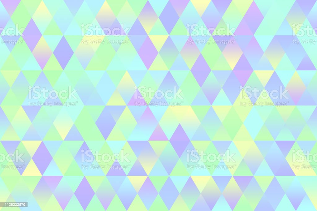 Colorful Triangle Seamless Pattern Mint Green Yellow Light Blue Violet Rhomb Texture Geometric Minimalism vector art illustration