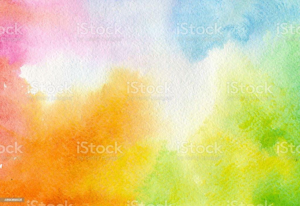 Fondo de acuarela colorido - ilustración de arte vectorial
