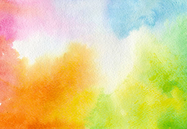 colorful watercolor background - watercolor background stock illustrations, clip art, cartoons, & icons