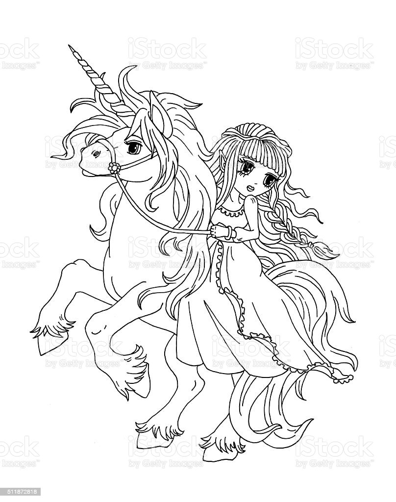 unicorn princess coloring pages - photo#23