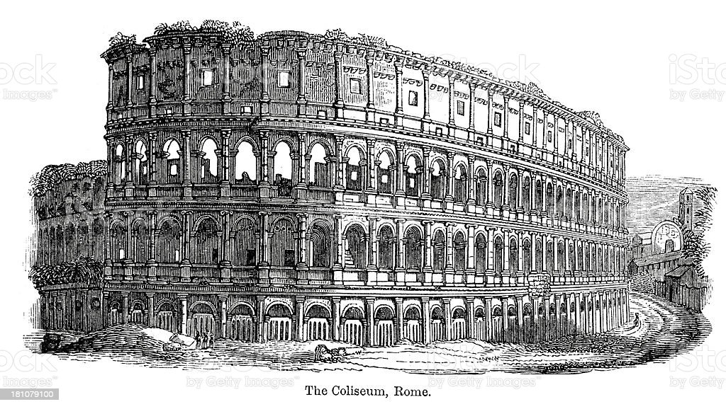 Colosseum, Rome royalty-free stock vector art