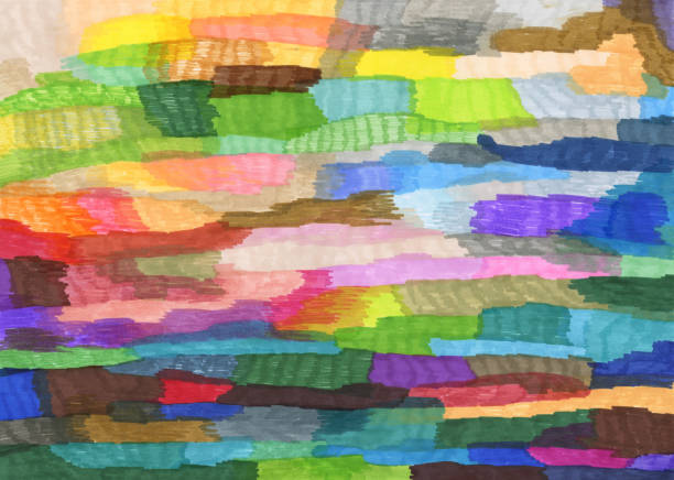 Colourful abstract pattern background Felt tip pens coloured abstract background tapestry stock illustrations