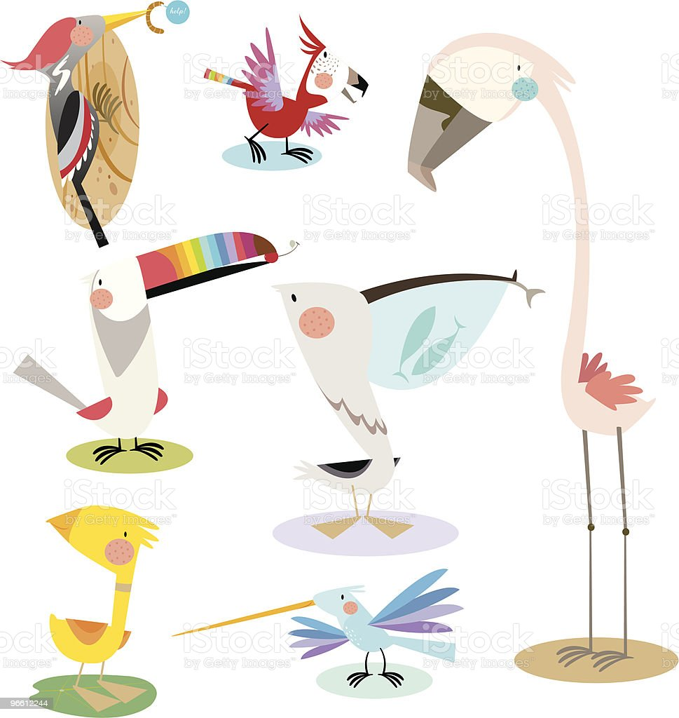 colourful birds - Royaltyfri Andfågel vektorgrafik