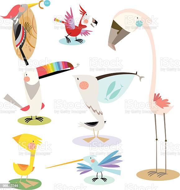 Colourful Birds-vektorgrafik och fler bilder på Andfågel