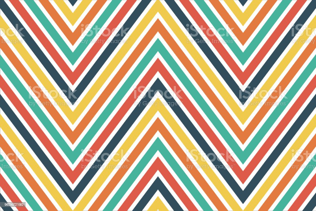 Colourful chevron pattern for background and wrapping paper design vector art illustration