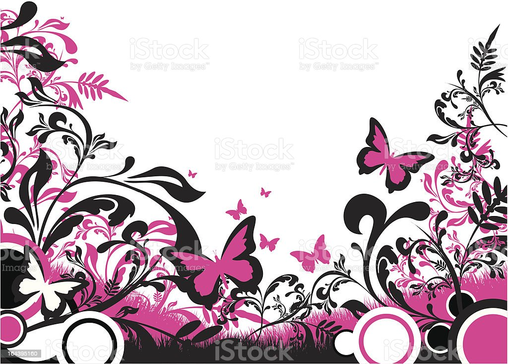 colourful floral background royalty-free stock vector art