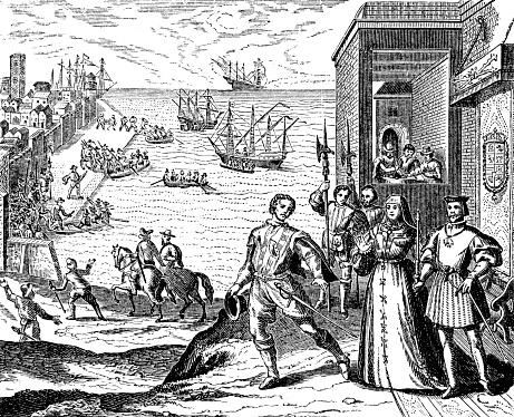 Columbus Departing On His First Voyage