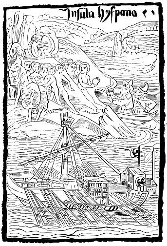 Columbus Seeing Hispaniola