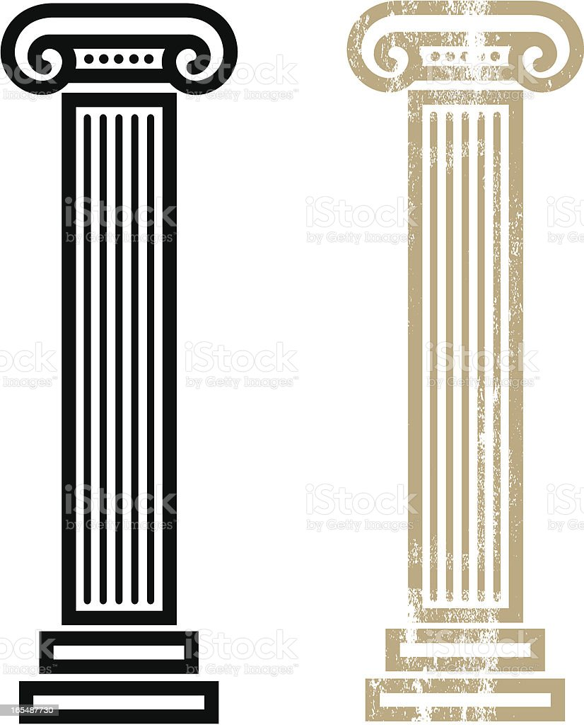 Column vector art illustration