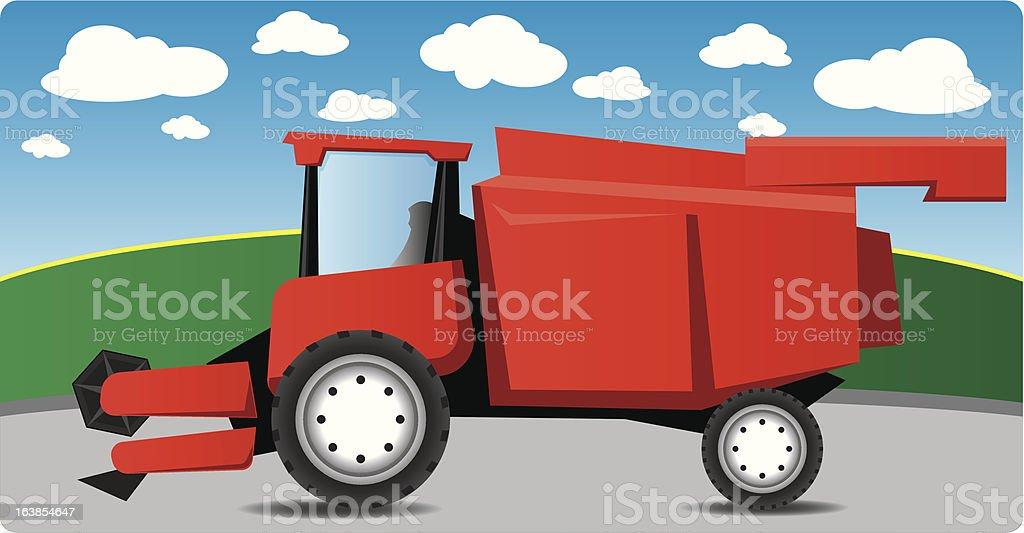 Combine Harvester royalty-free stock vector art