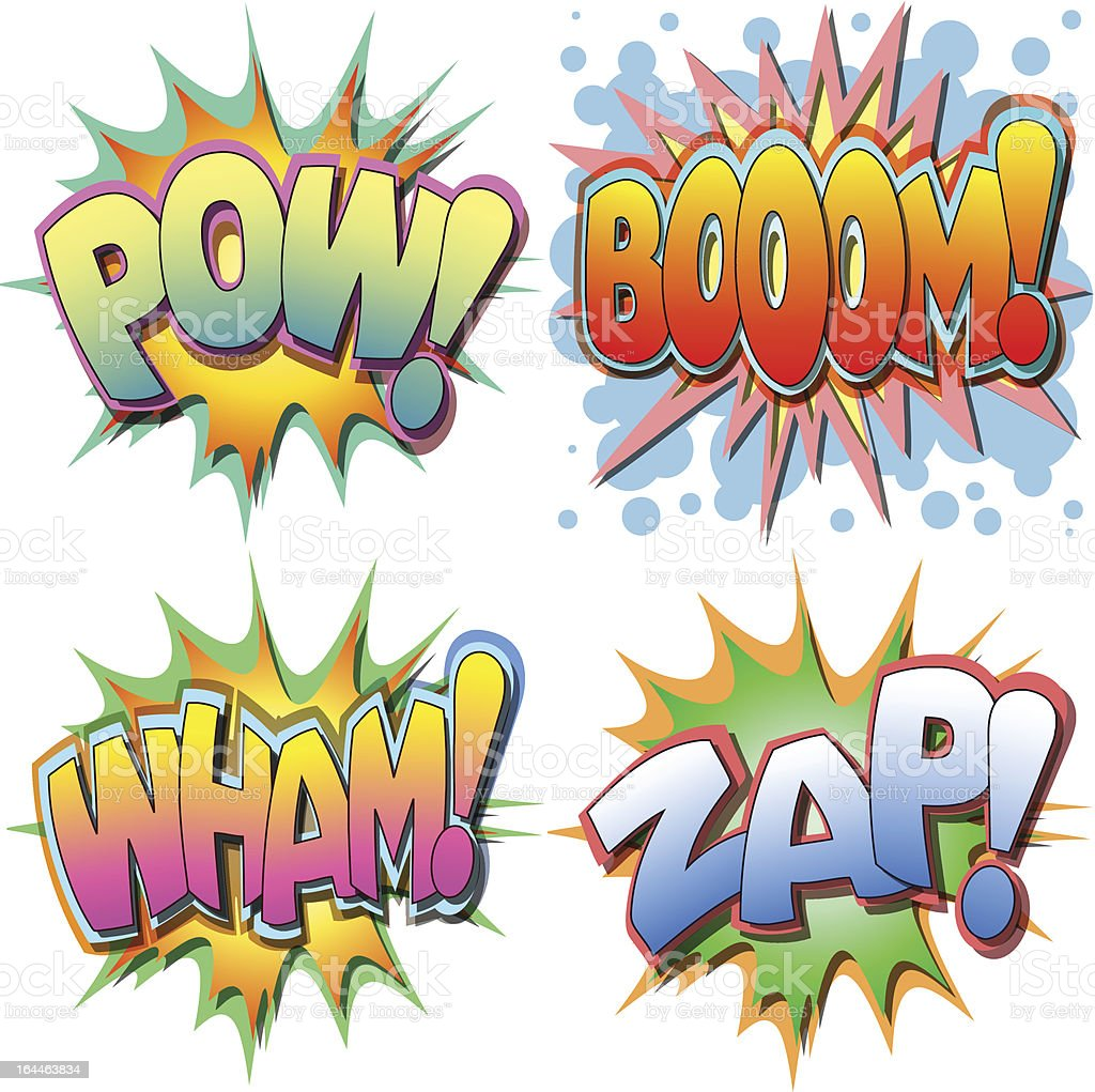 Comic Book Illustration royalty-free stock vector art