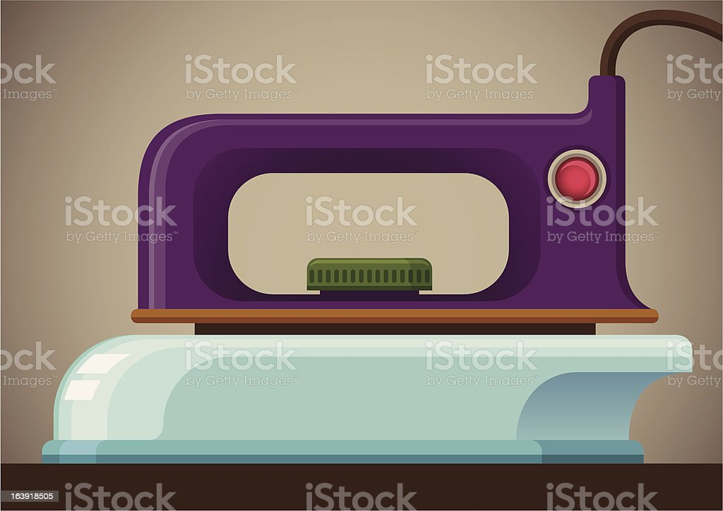 Comic retro iron. royalty-free comic retro iron stock vector art & more images of appliance