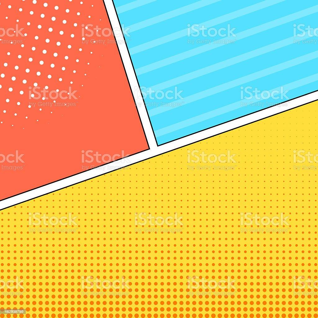 Comic style frames background vector art illustration
