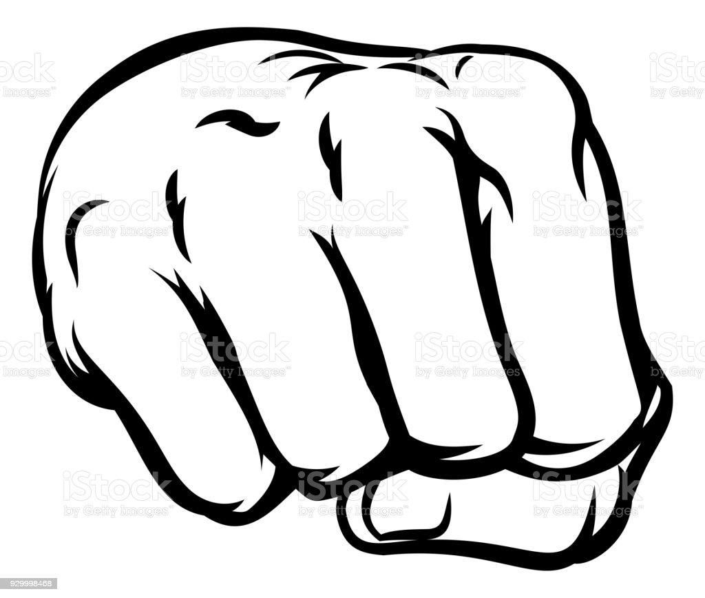 Comicbook Style Fist vector art illustration