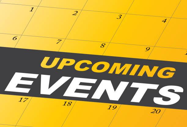 即將到來的活動日曆日日期即將到來向量藝術插圖