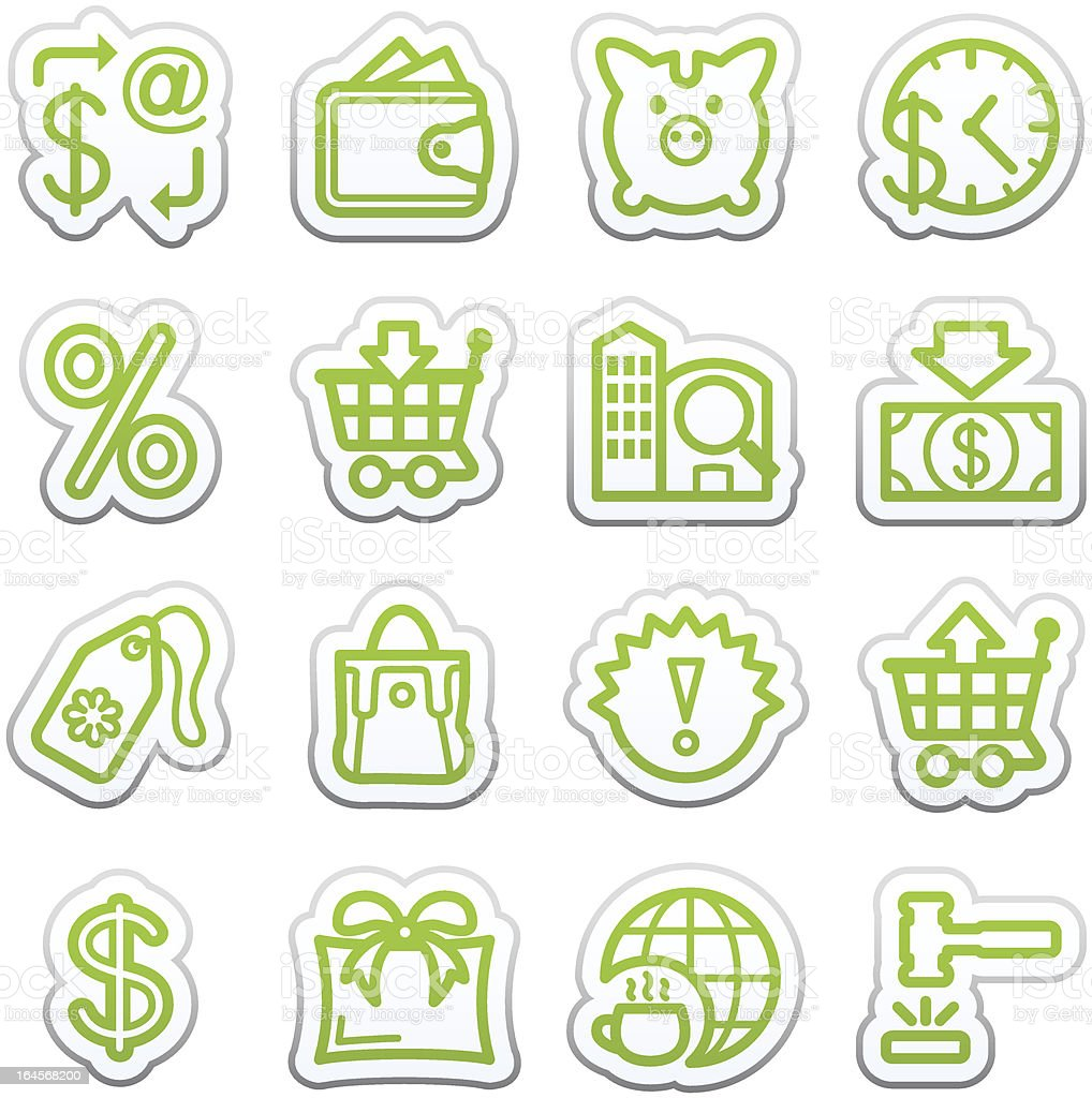 Commerce icons. Sticker series.