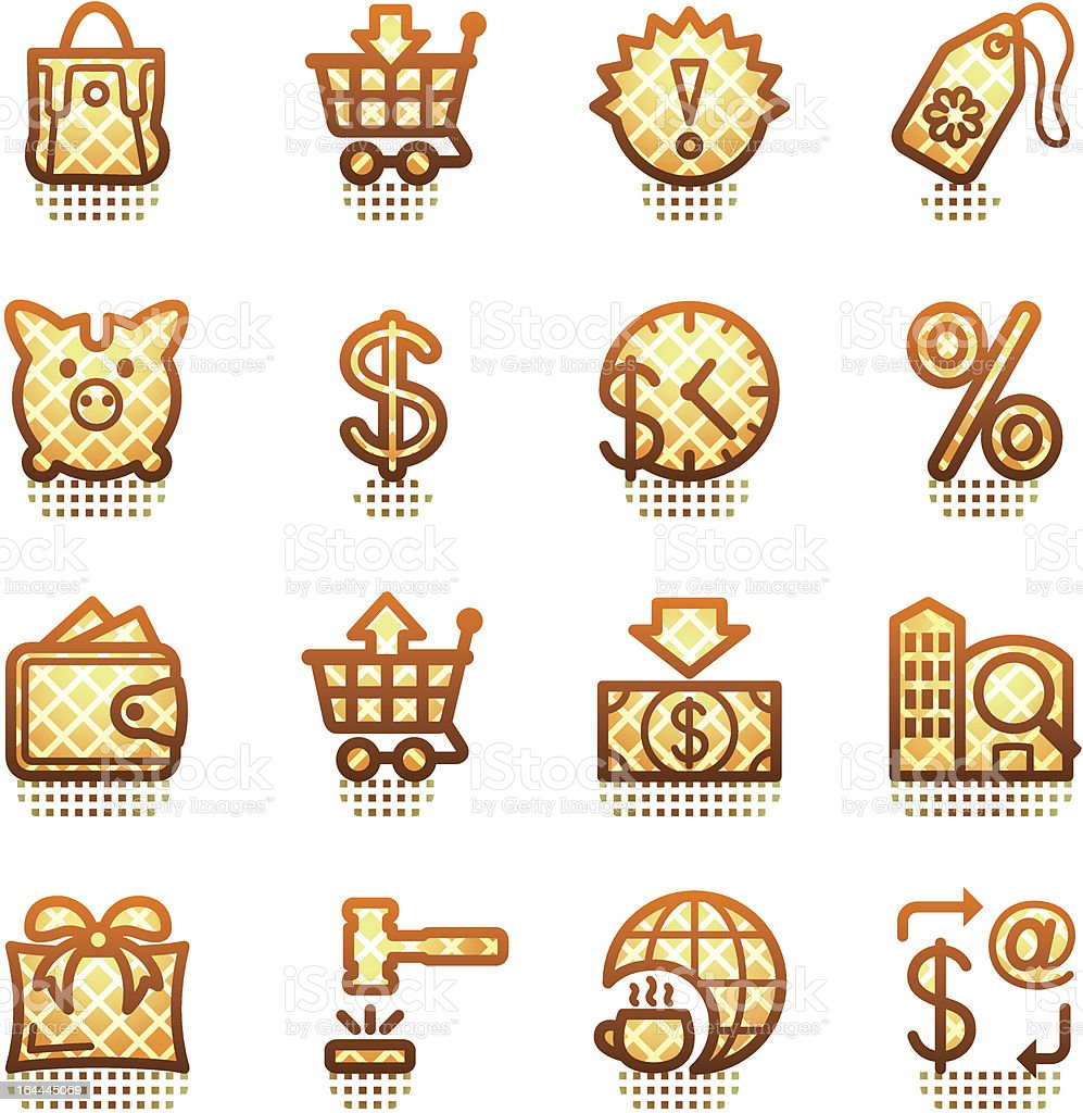Commerce web icons. Brown series.
