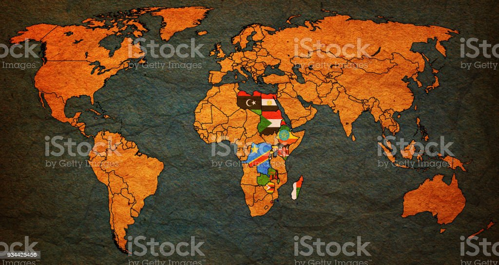 Common market for eastern and southern africa member countries flags common market for eastern and southern africa member countries flags on world map royalty free gumiabroncs Gallery