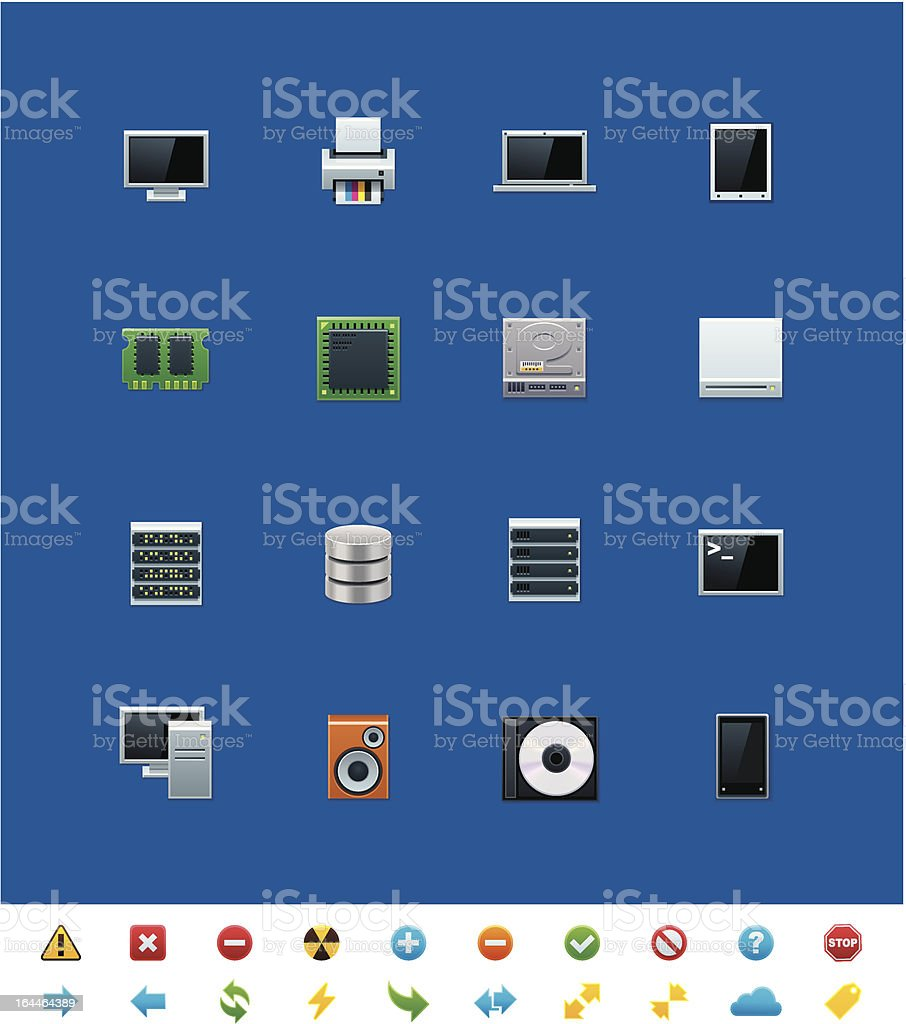 Common website icons. Hardware vector art illustration