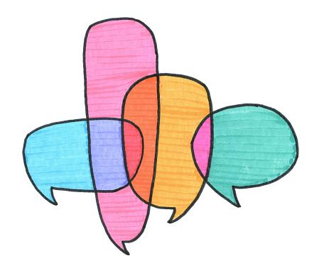 Communication Conversation Speech Bubbles Stock Illustration - Download Image Now