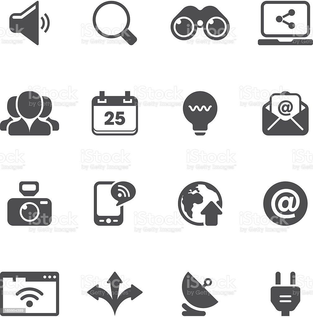 Communication Icon Set | Unique Series royalty-free stock vector art