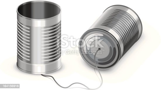 Tin can phone.