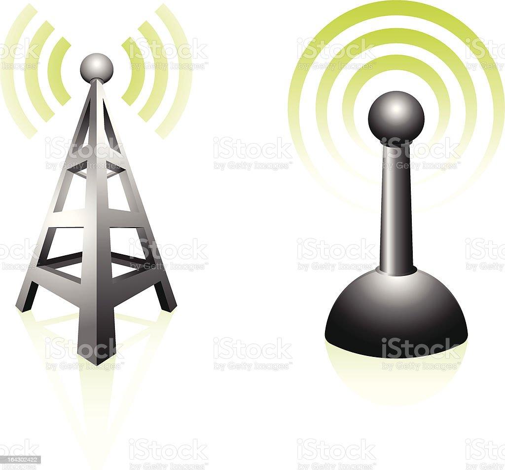 通信塔およびアンテナ - アンテナのベクターアート素材や画像を多数ご