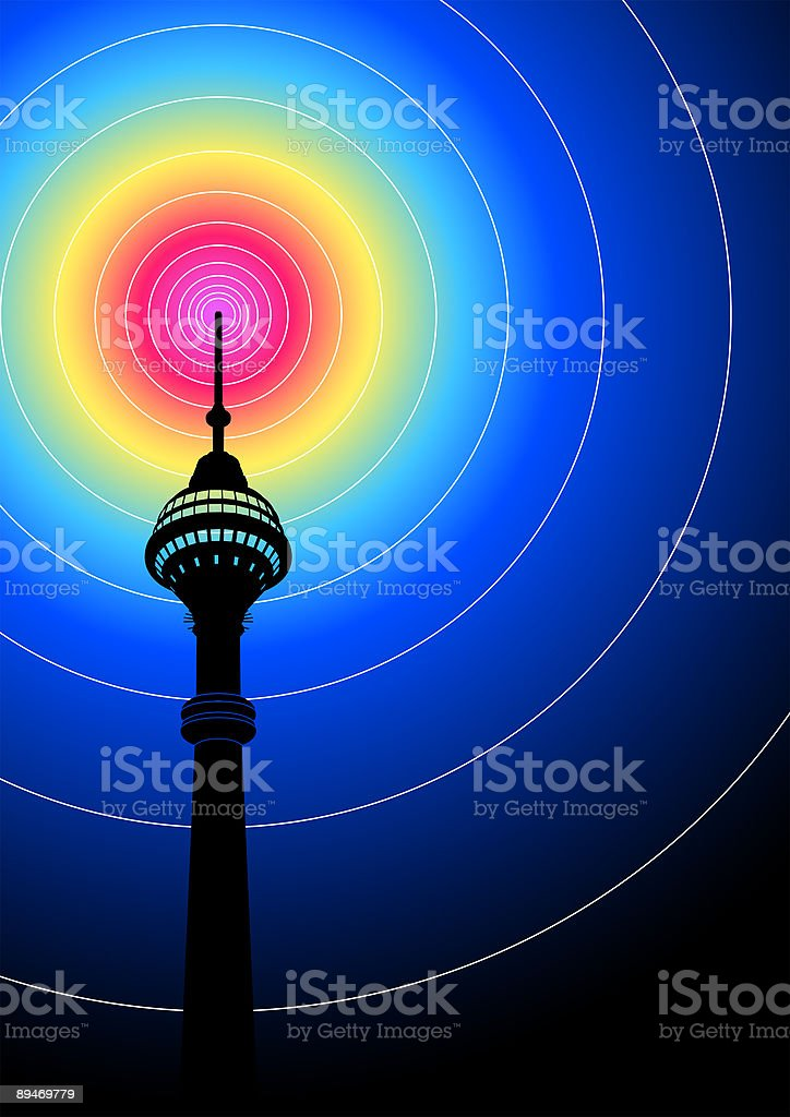 Communication Tower royalty-free communication tower stock vector art & more images of audio equipment