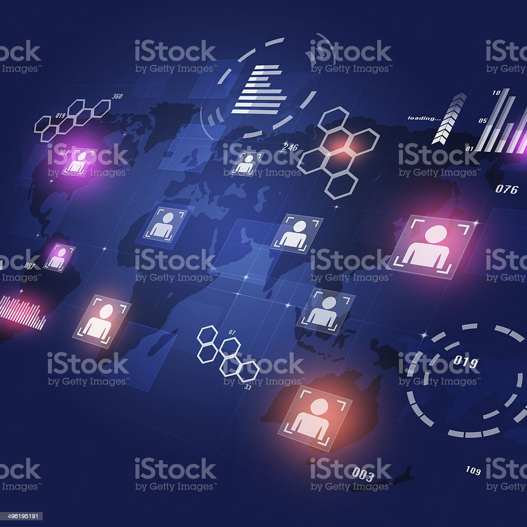 Communicationl Interface Concept Background royalty-free stock vector art
