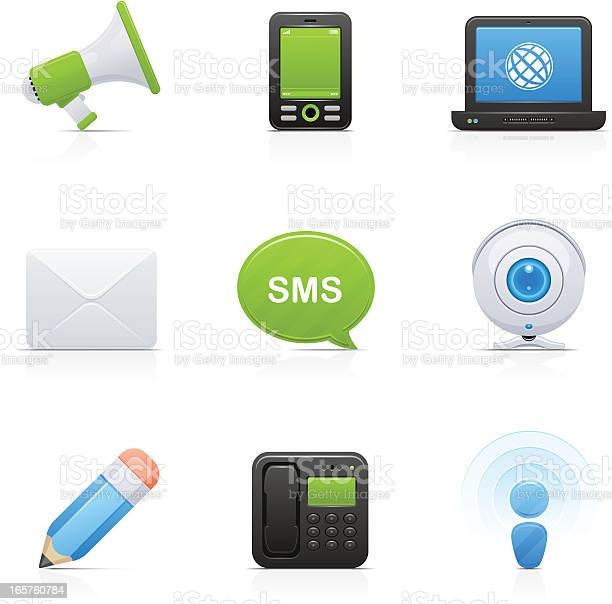 Communications Orbi Collection Stock Illustration - Download Image Now