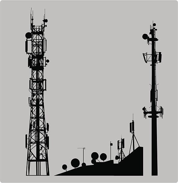 Communicatios Mast  communications tower stock illustrations