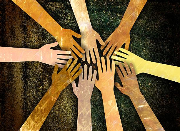 Communauté de mains - Illustration vectorielle