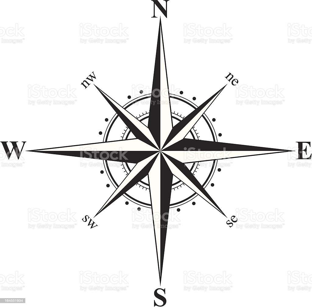 Compass royalty-free stock vector art