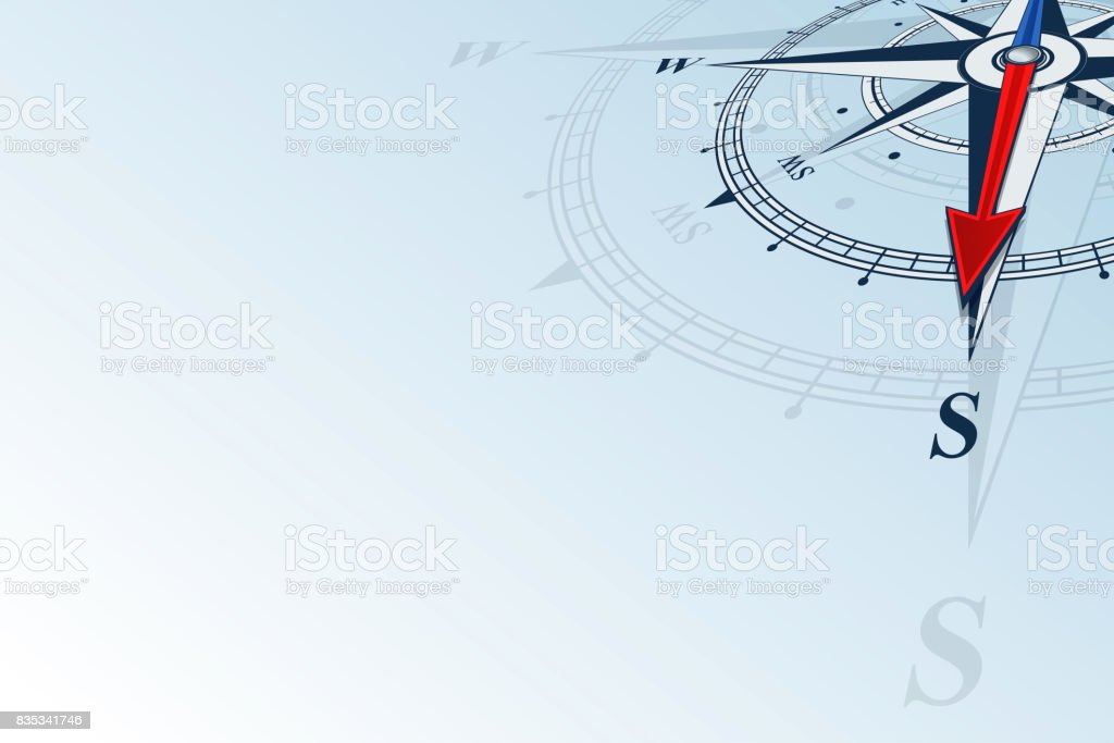 compass south background vector art illustration