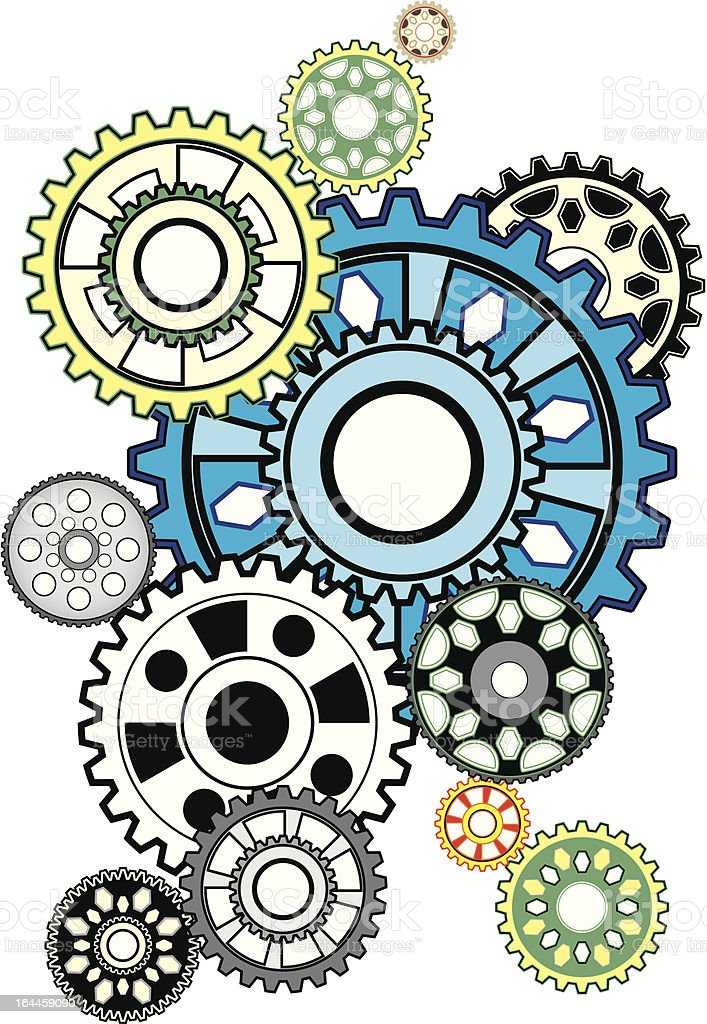 composition of colorful gears royalty-free composition of colorful gears stock vector art & more images of abstract