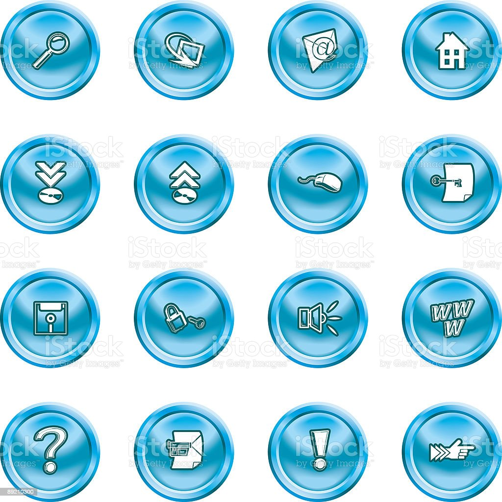 Computer and Internet Icons royalty-free stock vector art