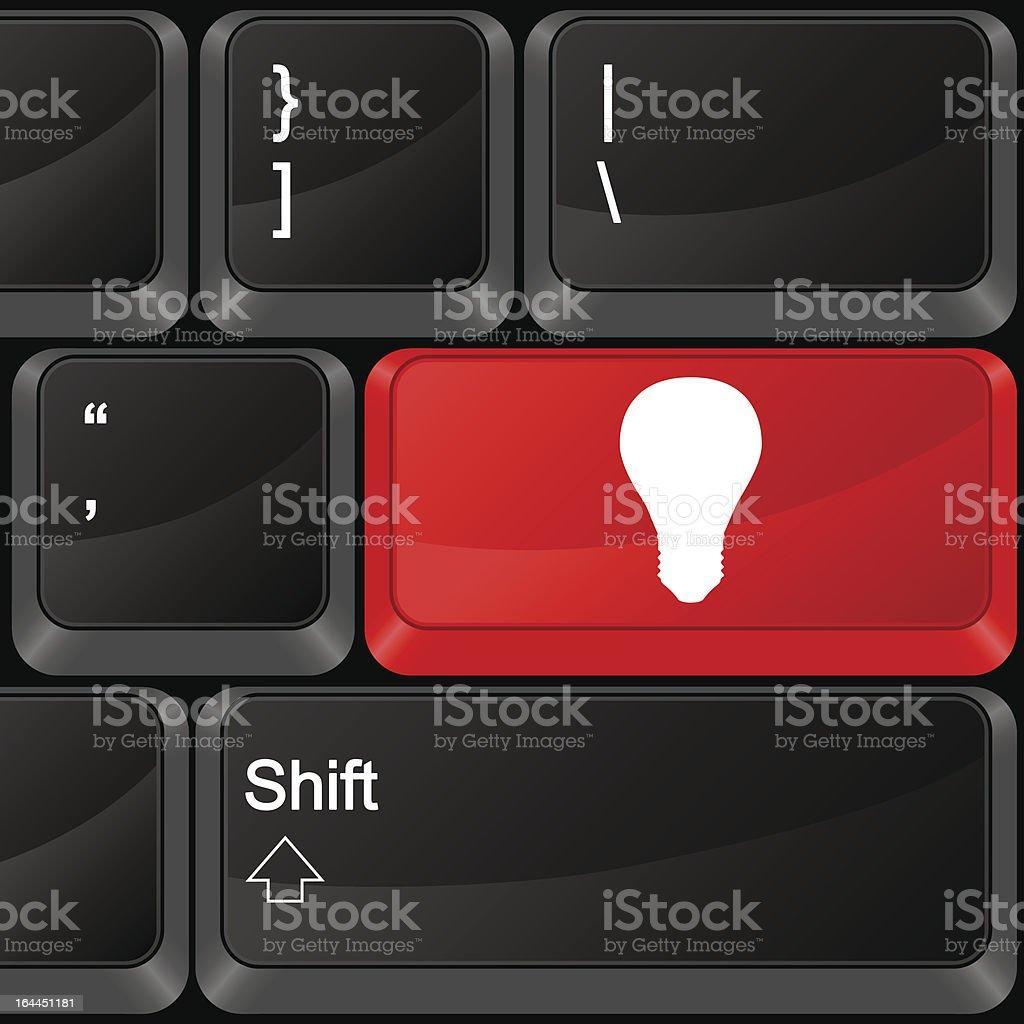 computer button bulb royalty-free stock vector art