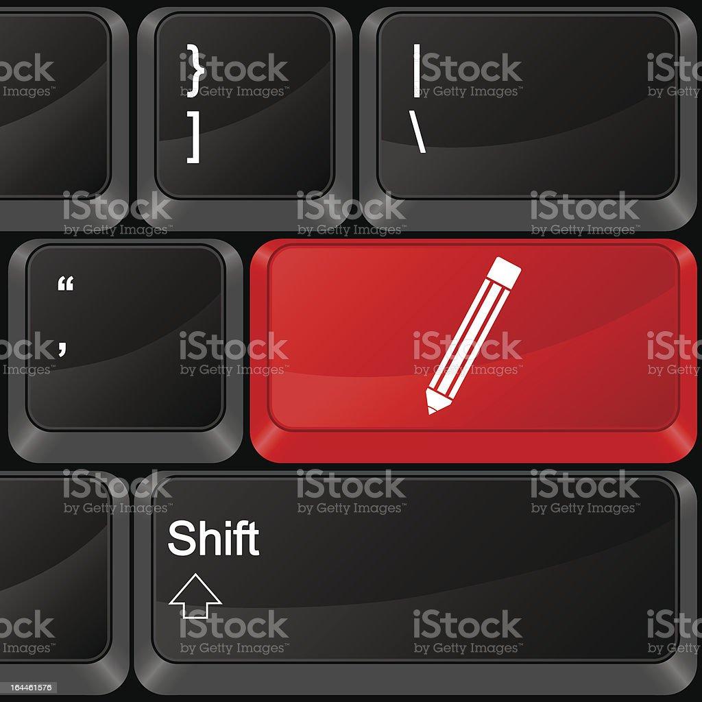 computer button pen royalty-free stock vector art