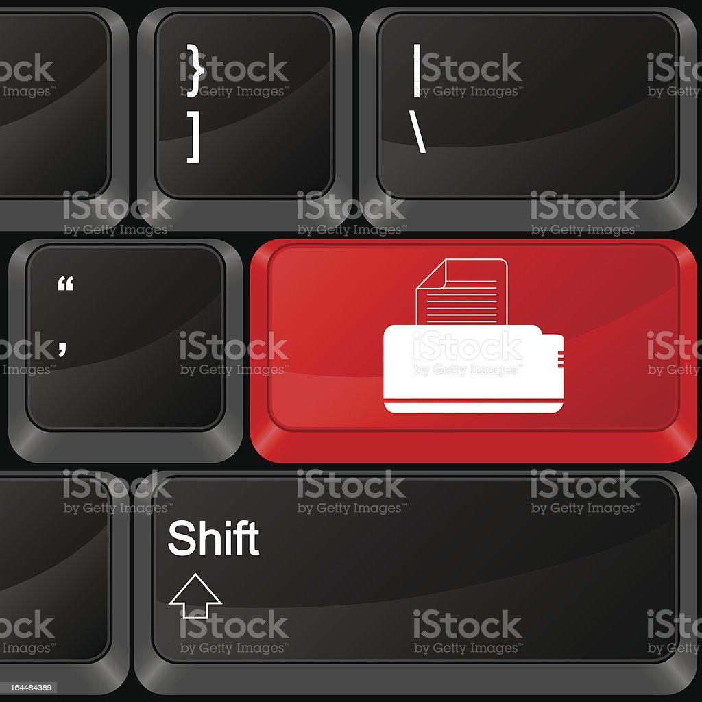 computer button printer royalty-free stock vector art