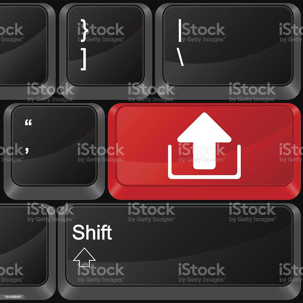 computer button upload royalty-free stock vector art