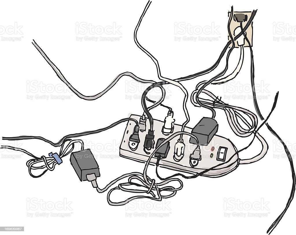 Computer Cords Tangle Stock Vector Art & More Images of Cable ...