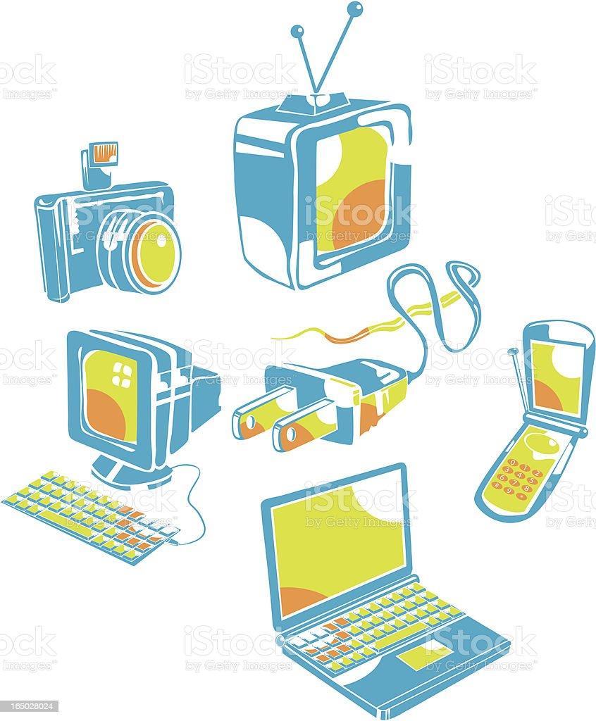 Computer Icons vector art illustration