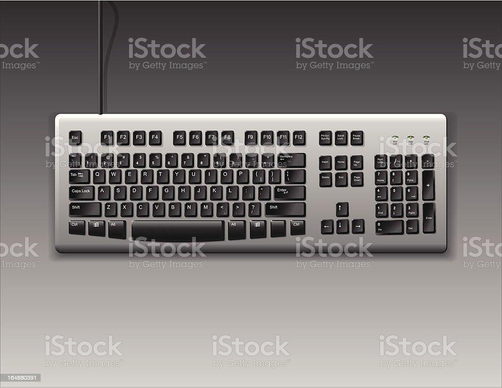 Computer Keyboard royalty-free stock vector art
